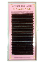 Коричневые ресницы Nagaraku 0,1 D 8 (16 линий)