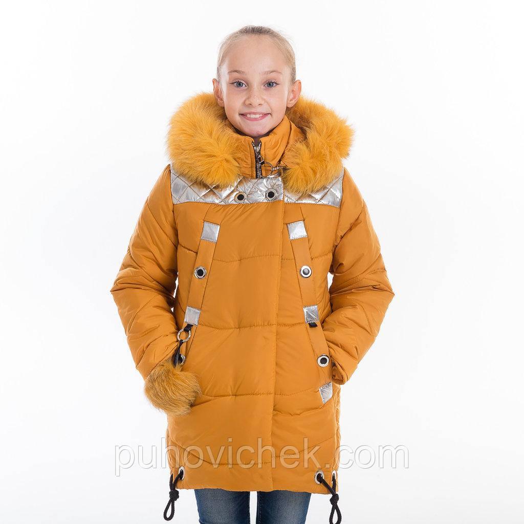 Зимние куртки для девочки с натуральным мехом