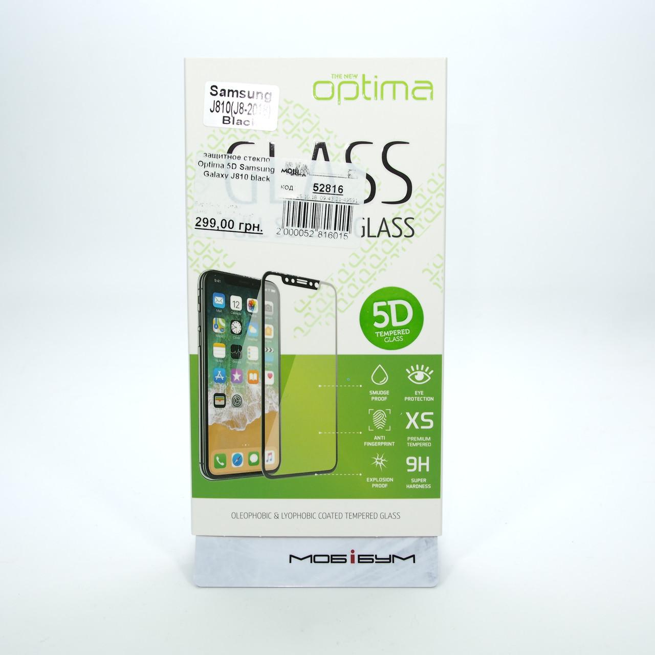 Защитное стекло Optima 5D Samsung Galaxy J810 black