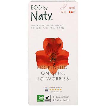 Naty, Ежедневные прокладки, для нормальных выделений, 32 эколологичных прокладок