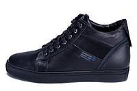Мужские зимние кожаные ботинки ZG Black Stage 1, фото 1