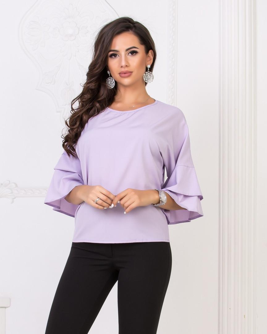 Блуза женская с рукавами воланами 42-44.46-48.50-52.54-56 р-ры