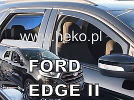 Дефлектори вікон Ford Edge II 2016+ 5D (вставні, кт - 4шт)