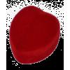 """1001M Футляр """"сердце маленькое"""" красный внутри красный универсальная прорезь"""