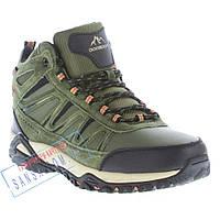 Мужские зимние кроссовки BaaS BS29, цвет хаки. Натуральный нубук,  искусственный мех. a484e087302