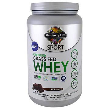 Garden of Life, Sport, Certified Grass Fed Whey, Refuel, Chocolate, 23.7 oz (672 g)