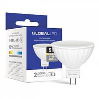 Лампа светодиодная MR16 GU5.3 220V 5W 3000K GLOBAL LED