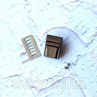 Замок-mini  ZM12-2,цвет черный никель.