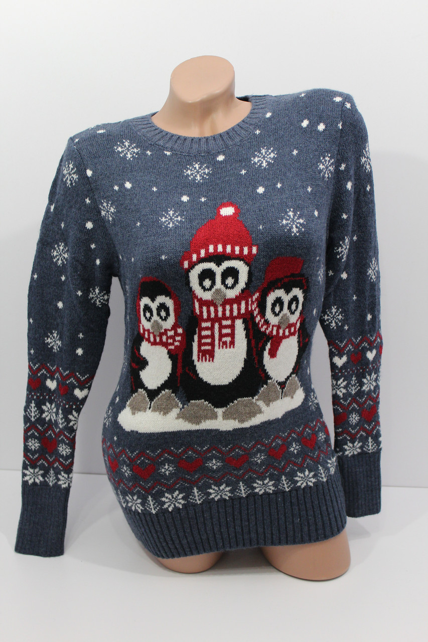 Шерстяні жіночі светри з прикольними малюнками оптом і в роздріб G 4741