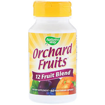 Natures Way, Orchard Fruits, 12 Fruit Blend, 60 Vegetarian Capsules