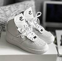 967d43a7 Nike Air Force 1 High x PSNY White | кроссовки мужские; кожаные;  осенние/весенние; белые 8.5us - 42eur - 26.5cm