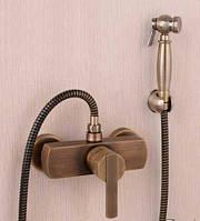 Гигиенический душ для биде со смесителем латунный 0378