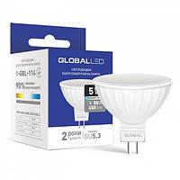 Лампа светодиодная MR16 GU5.3 220V 5W 4100K GLOBAL LED