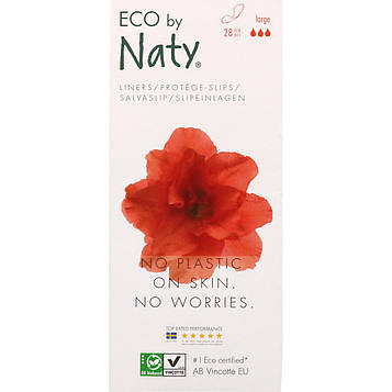 Naty, Ежедневные прокладки, большие, 28 экологических прокладок