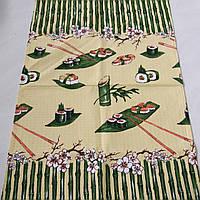 Готовое вафельное полотенце с бамбуком и суши 45х70 см