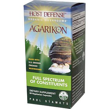 Fungi Perfecti, Host Defense, Агарикон 60 овощных капсул