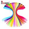 Волосы на заколках цветные яркие пряди длинные яркие волосы канекалоны, фото 2
