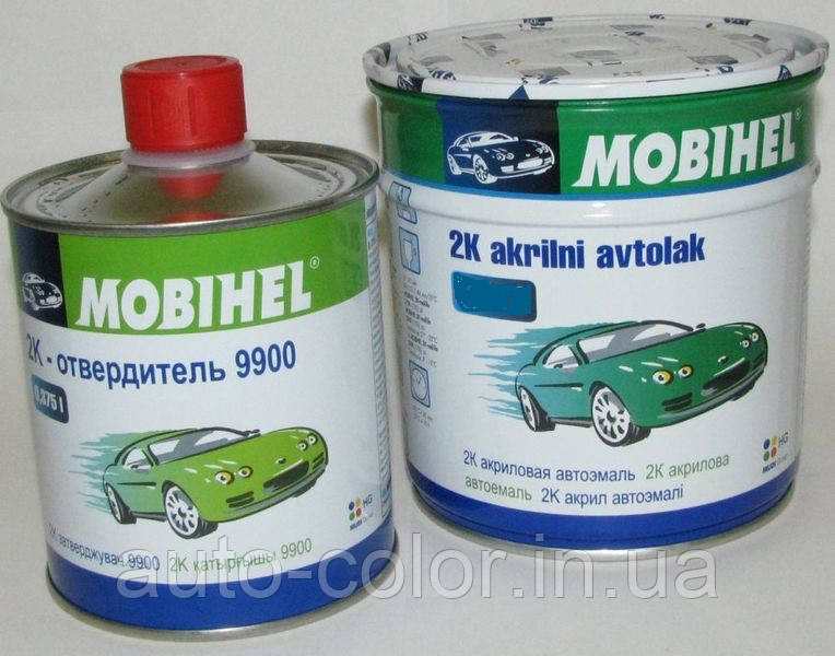 Автоэмаль Mobihel 2K акриловая  Белая ГАЗ 0,75л+0.375л отвердитель