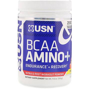 USN, BCAA Aminos Plus, Fruit Punch, 11.6 oz (330 g)