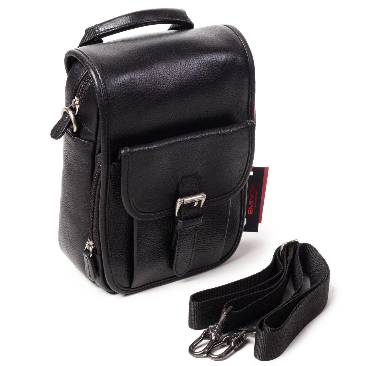 12b9615a83b0 Мужская сумка кожаная черная Eminsa 6059-12-1 - АксМаркет в Киеве