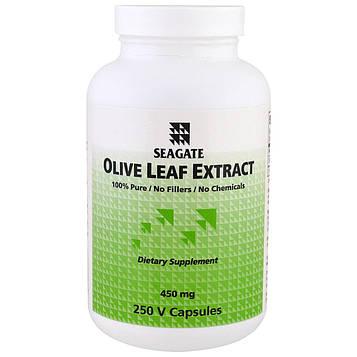 Seagate, Экстракт листьев оливы, 450 мг, 250 растительных капсул