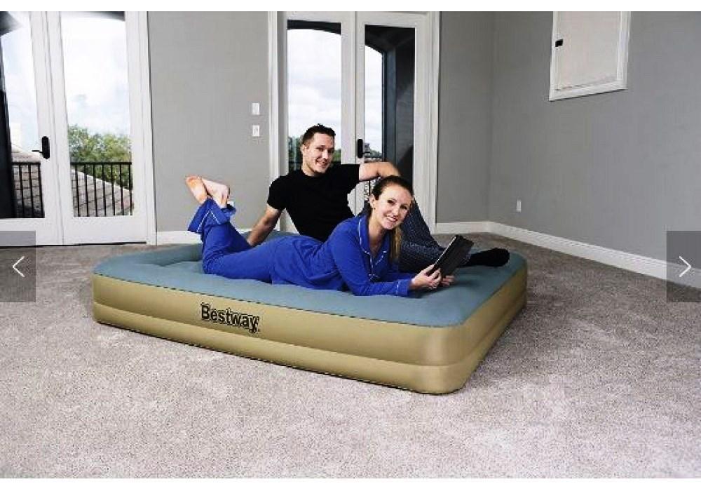 Двухспальная надувная кровать Bestway 69007 со встроенным электронасосом, 203х152х36 см