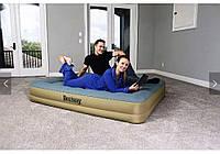 Двухспальная надувная кровать Bestway 69007 со встроенным электронасосом, 203х152х36 см, фото 1