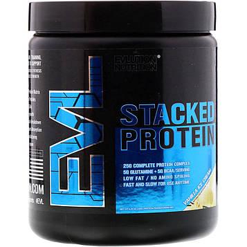 EVLution Nutrition, Stacked Protein, ванильное мороженое, 180 г