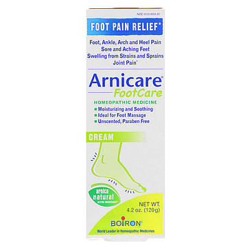 Boiron, Arnicare Foot Care Cream, Unscented, 4.2 oz (120 g)