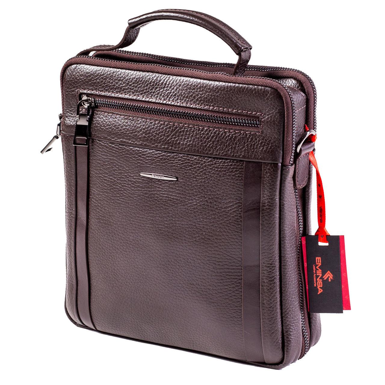 Мужская сумка кожаная коричневая Eminsa 6135-37-3 533af94daab7f