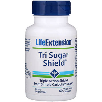Life Extension, Tri Sugar Shield, 60 растительных капсул
