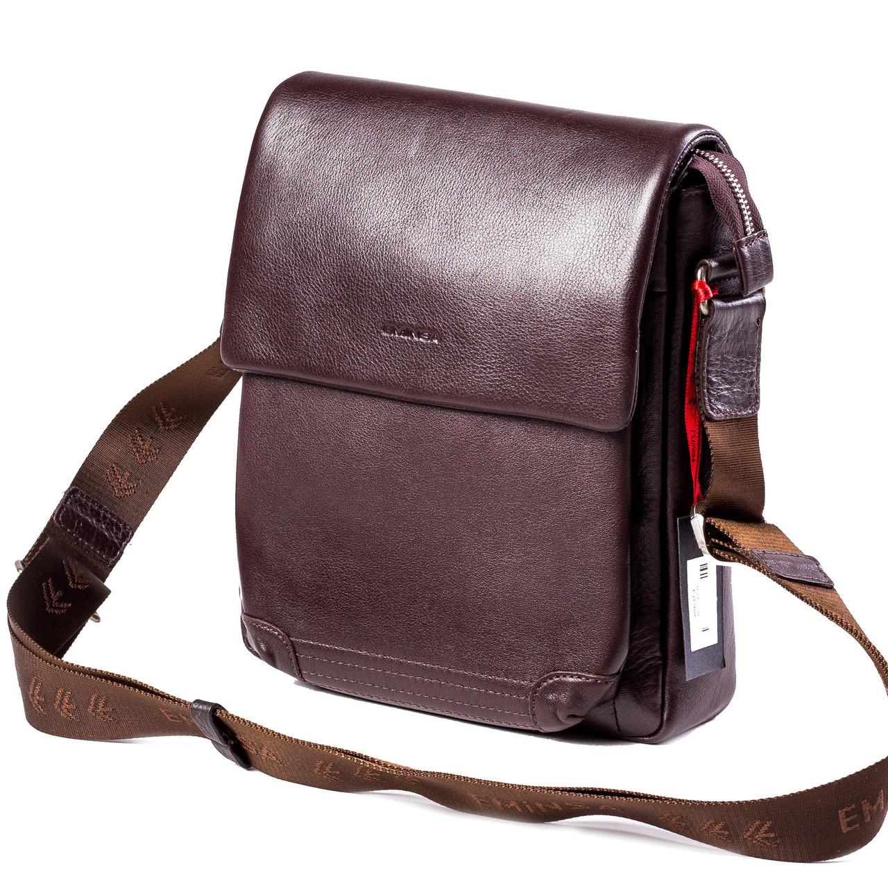Мужская сумка кожаная коричневая Eminsa 6090-12-3 4d093b1c193c0