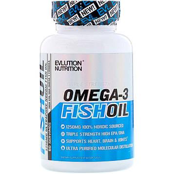 EVLution Nutrition, Рыбий жир, 60 Мягких Желатиновых Капсул