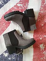 Женские серые ботинки полусапожки Newlook, Англия, оригинал