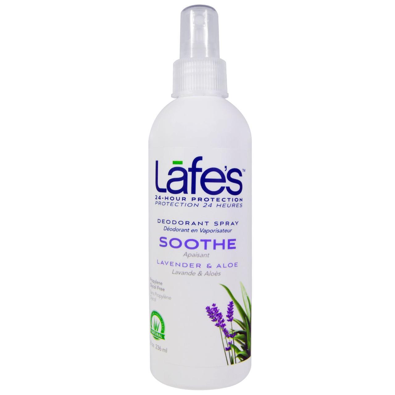 Lafes Natural Body Care, Дезодорант-спрей, смягчающий, лаванда и алоэ, 236 мл