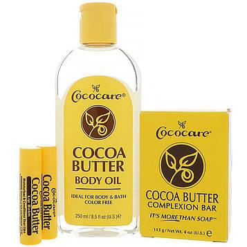 Cococare, Подарочный набор с маслом какао, 4 предмета