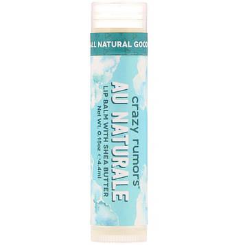 Crazy Rumors, Lip Balm with Shea Butter, Au Naturale, 0.15 oz (4.4 ml)