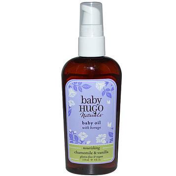 Hugo Naturals, Детское масло, Ромашка и ваниль, 4 жидких унции (118 мл)