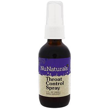 NuNaturals, Спрей для Горла 2 жидких унции (59 мл)