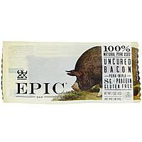 Epic Bar, Батончик с незасоленным беконом, свининой + кленом, 12 батончиков, 1,5 унции (43 г) каждый
