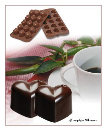 """Форма для шоколаду """"Сердечко"""" 30*22 мм h 25 мм Silikomart"""