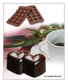 """Форма для шоколада """"Сердечко"""" 30*22 мм h 25 мм Silikomart"""
