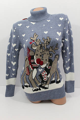 Шерстяні жіночі светри з новорічними оленями оптом і в роздріб G 4640, фото 2