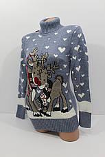 Шерстяні жіночі светри з новорічними оленями оптом і в роздріб G 4640, фото 3