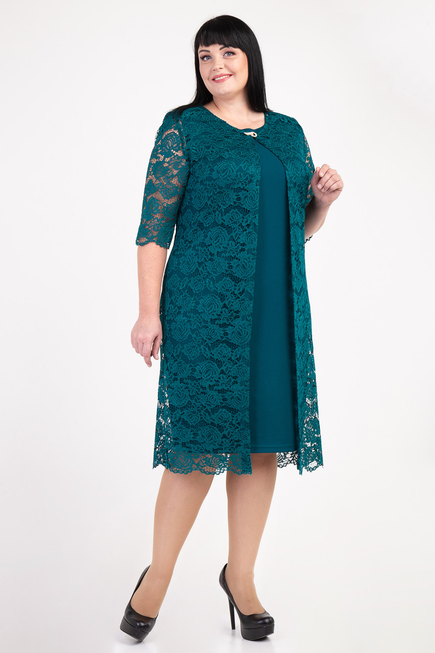 купить женское нарядное платье с кардиганом