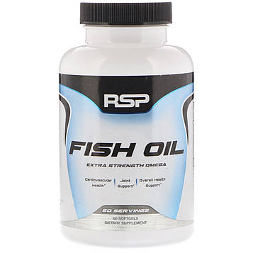 RSP Nutrition, Fish Oil, Extra Strength Omega, 60 Softgels