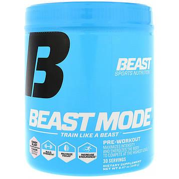 Beast Sports Nutrition, Beast Mode, Предтренировочная формула, Карамельный взрыв, 8,47 унции (240 г)
