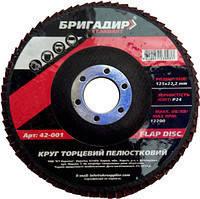 Круг лепестковый торцевой 125х22 (P100) Бригадир, фото 2