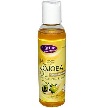 Life Flo Health, Чистое масло жожоба, Уход за кожей, 4 жидких унции (118 мл)