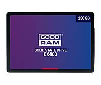 """SSD диск 256 Гб/Gb Goodram CX400, SATA3, SATA3, 2.5"""", 3D TLC NAND, 550/490 MB/s (SSDPR-CX400-256), ссд"""